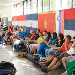 Spectators at Novi Sad 50m rifle shooting range